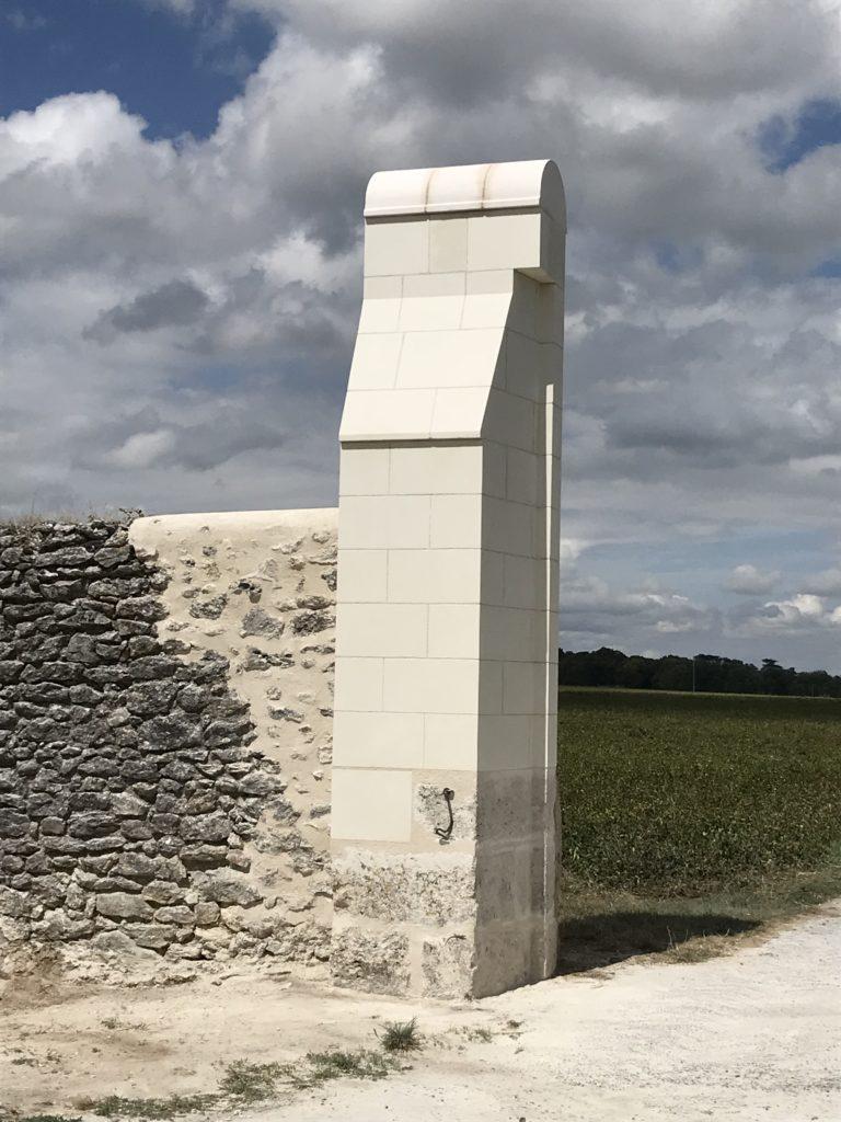 restauration pilier de portail tours