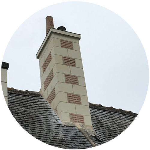 Création cheminée pierre